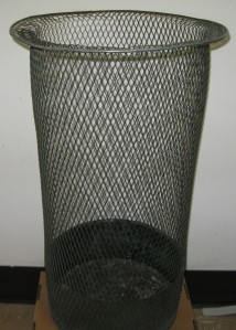 Wastebasket designed for the Texas State Capitol