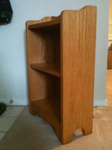 Bookshelf, side view