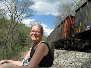 Lisa Along the Tracks near Carrollton