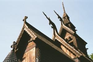 Fantoft Stavkirke roof