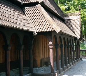 Fantoft Stavkirke porch