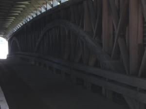 Philippi Covered Bridge interior