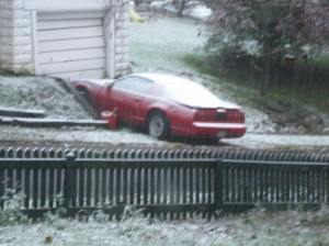 Car in Snow 29 October 2011
