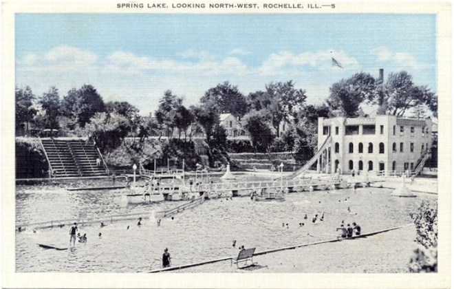 Spring Lake (1940s?) looking northwest