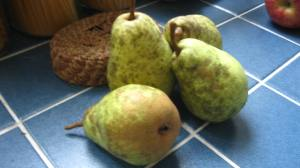 Pears on the counter