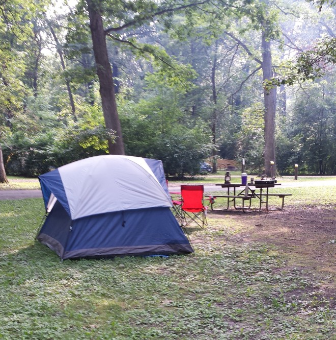 Camp site at Lowden State Park