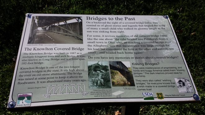 Knowlton Bridge sign