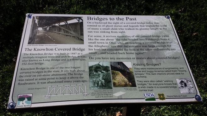 Knowlton Bridge sign