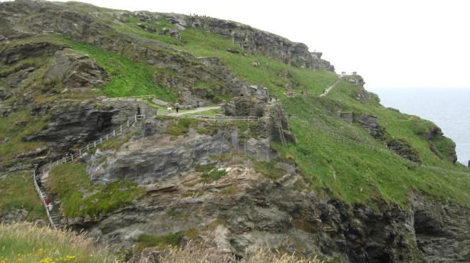 Tintagel, the path to the castle ruins