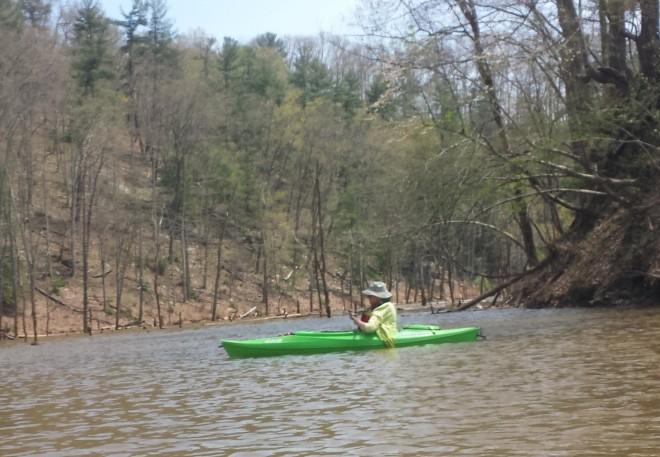 Kayaking at North Bend