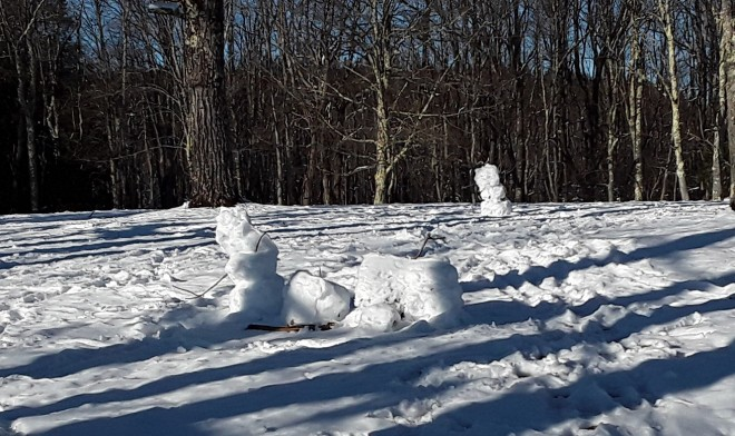 Snowmen at Blackwater Falls State Park